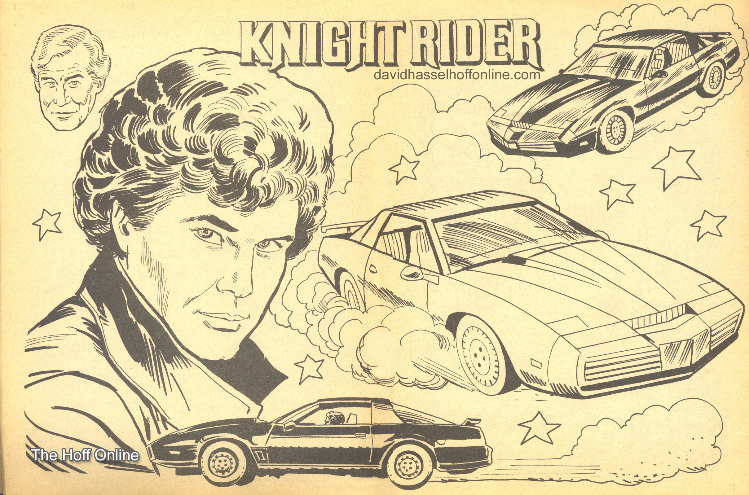 coloring pages the official david hasselhoff website
