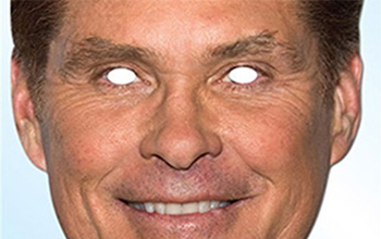 David Hasselhoff Party Mask