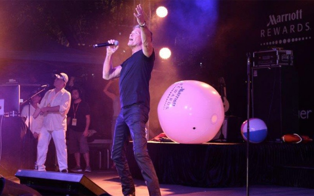 David Performs At The Hong Kong Sevens