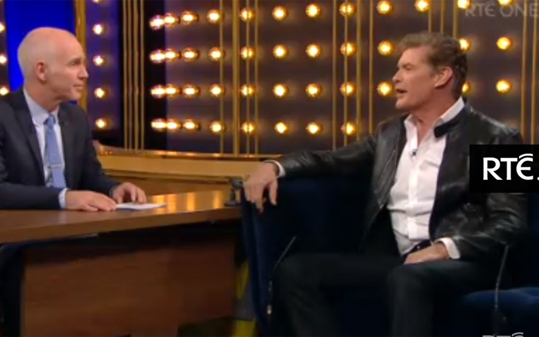 Watch David's Interview On The Ray D'Arcy Show In Dublin