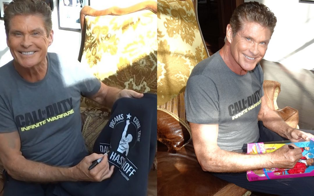 David Hasselhoff's Personal Treasures – Bid Now For The Cheeky Rob Foundation & Cystic Fibrosis!
