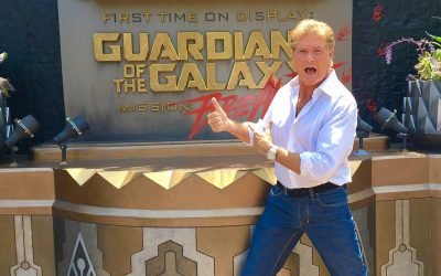 David Rides Mission: BREAKOUT At Disneyland To Celebrate In-Home Release Of Guardians Of The Galaxy Vol. 2!