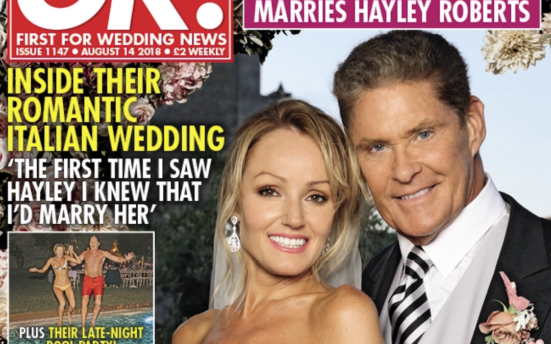 David And Hayley's Wedding In OK Magazine – On Stands Now!