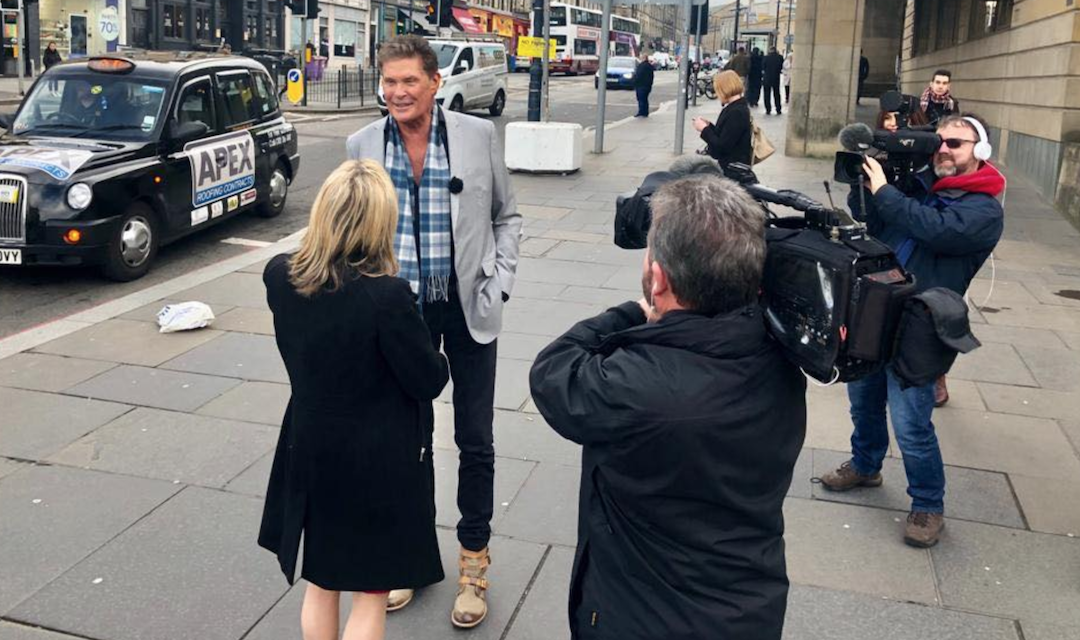 David In Edinburgh Scotland For Comic Con This Weekend: Interviews + Photos