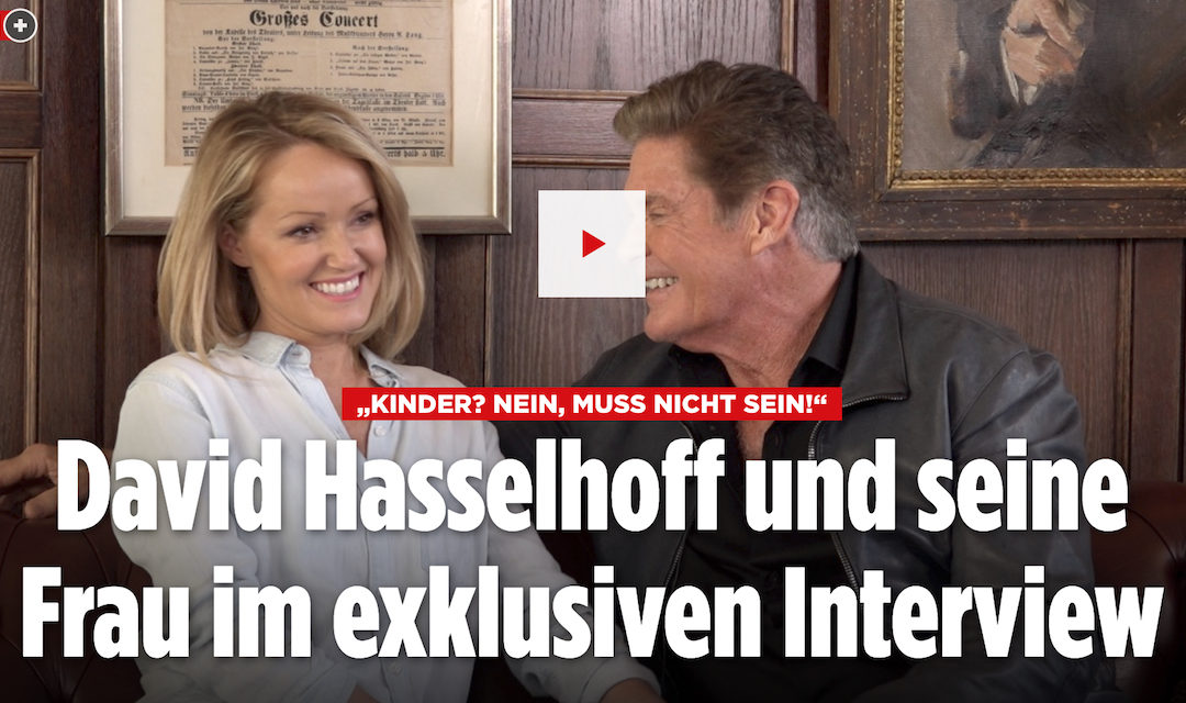 David And Hayley Interview With BILD