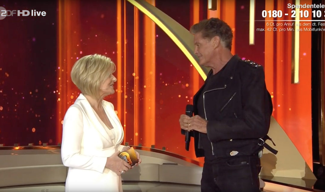 David Performs On Willkommen bei Carmen Nebel